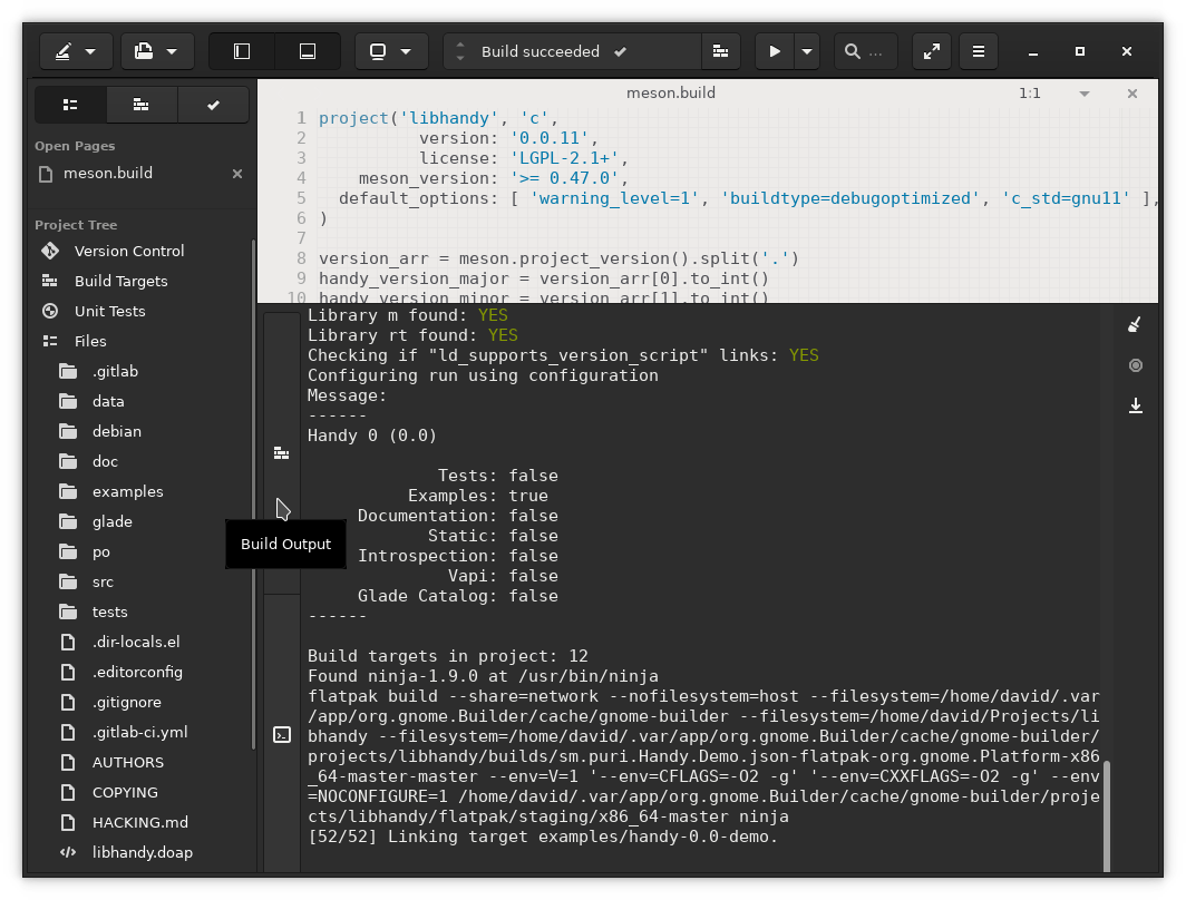 Apps/Tutorials/GNOME_Builder_Flatpak/images/gnome-builder-build-output.png